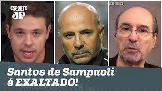 """""""Melhor futebol do Brasil!"""" Santos de Sampaoli é EXALTADO após 3 a 0!"""