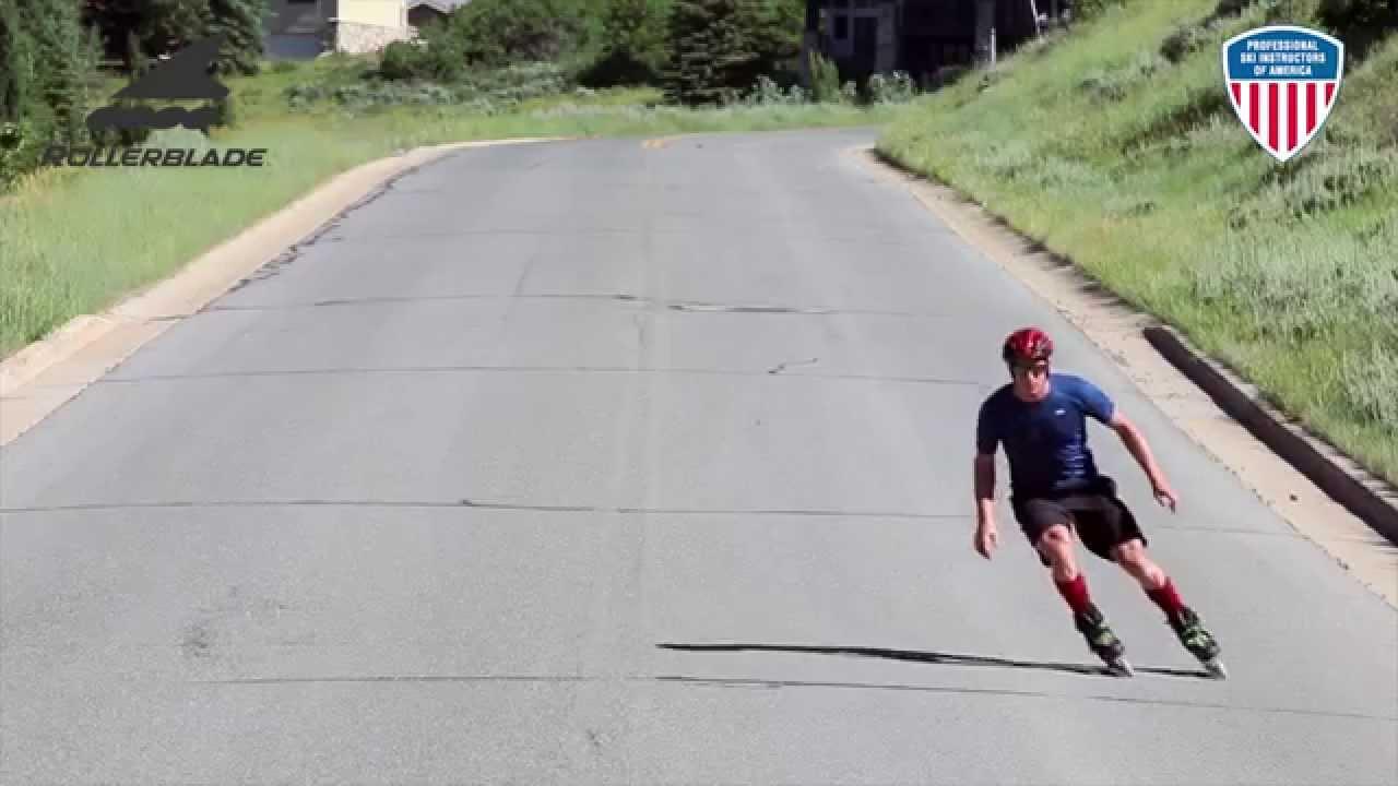 Skate to ski carving youtube