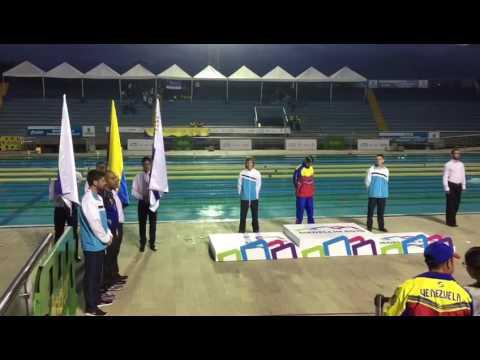 Premiación medalla de plata y bronce para Uruguay en los Juegos Sudamericanos Escolares