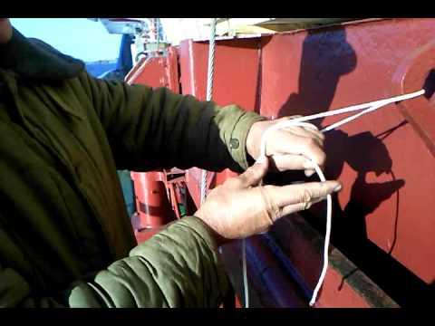 калмыцкий узел для вязания рыболовных сетей