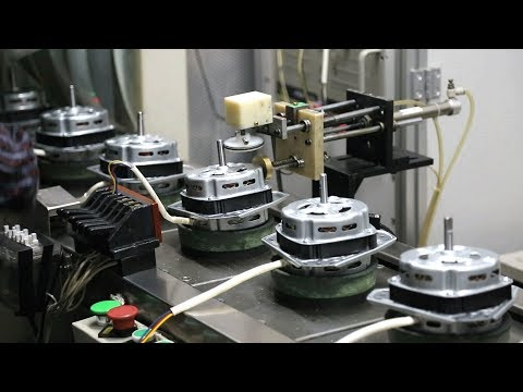 Electric Motor Assembly FACTORY HOW IT'S MADE a Washing Machine Motor