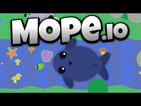 Mope.io - The Deadly Blue Whale! - Cutest Ocean Fish in Mope.io! - Let's Play Mope.io Gameplay