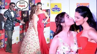 Alia Bhatt Doing MASTI With Deepika Padukone in Front Of Everyone At Zee Cine Awards 2019