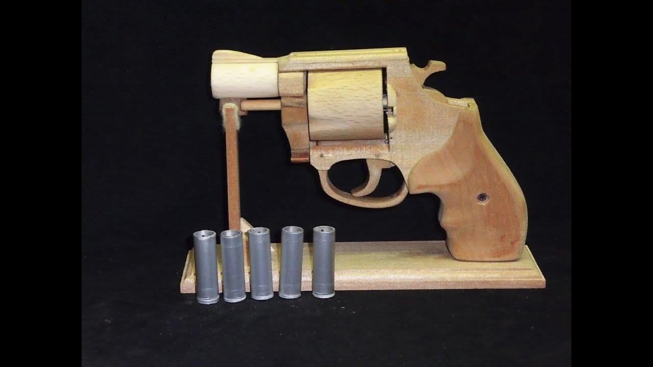 リボルバータイプの輪ゴム銃を作ってみた。s Amp W M37 Youtube