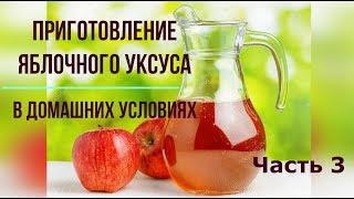 Татьяна. Как приготовить яблочный уксус в домашних условиях. ч.3