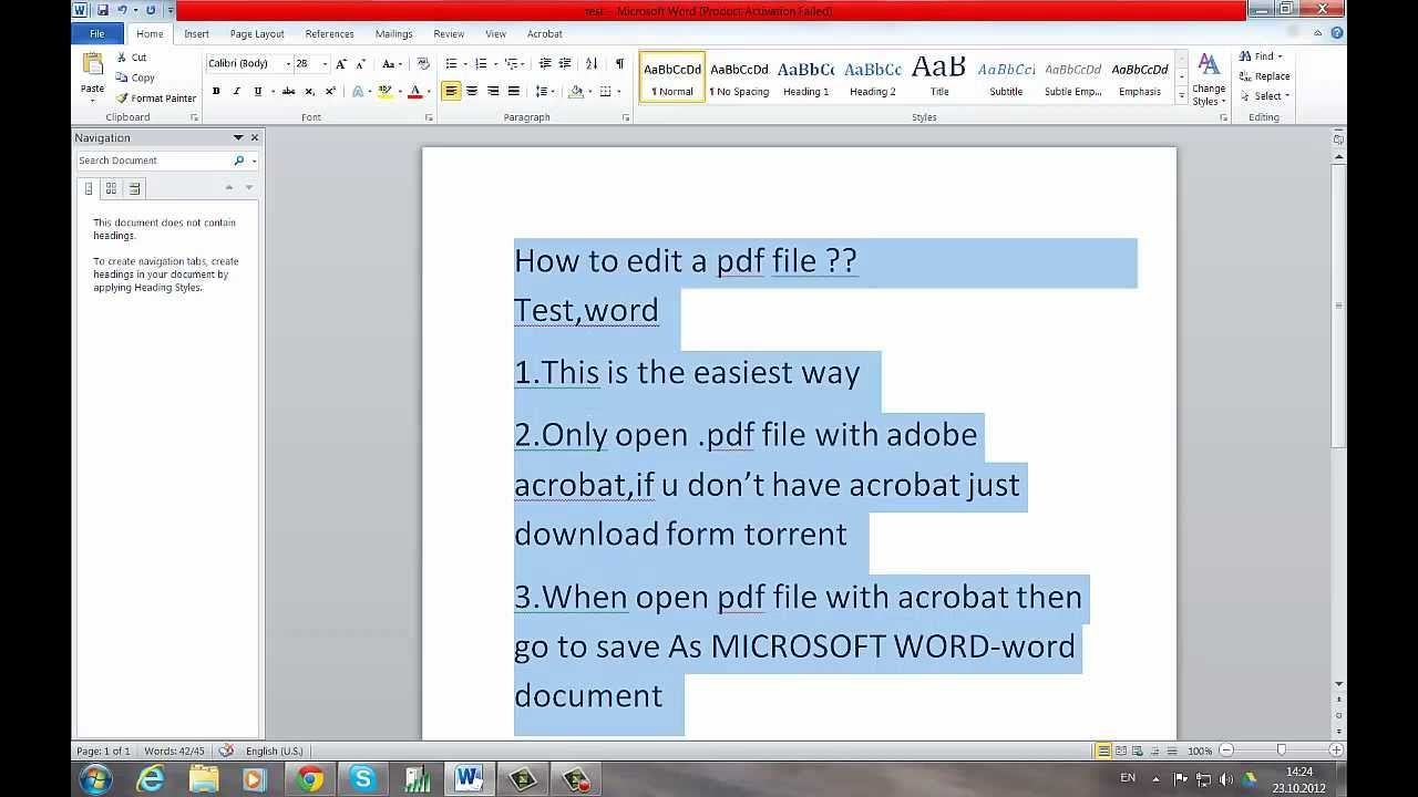 How To Edit A Pdf File, The Easiest Way