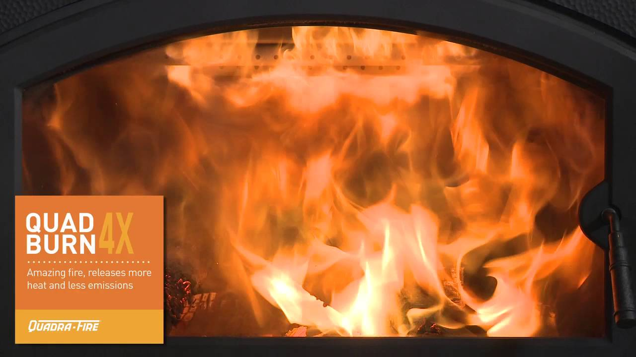 quadra fire pioneer ii wood fireplace video youtube