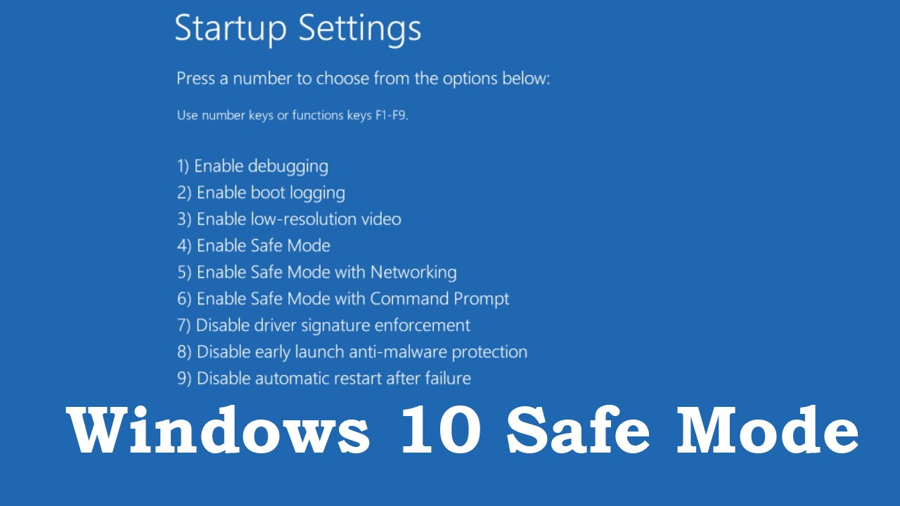 safe boot windows 10