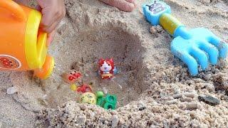 ジバニャン アンパンマン おもちゃ 砂あそび 水あそび プール メロンパンナちゃん♡ぴよこおねえさん♡ thumbnail