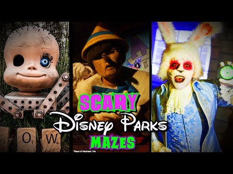 Disney Parks Haunted Mazes