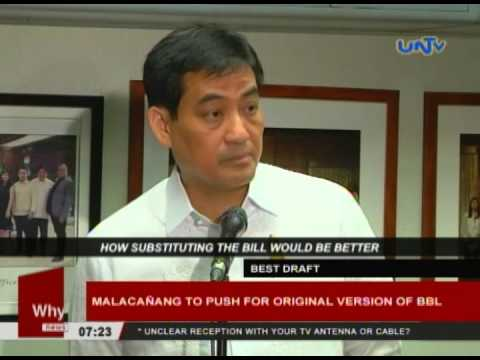 Malacañang to push for original version of BBL