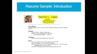 Developing Your Resume and Cover Letter