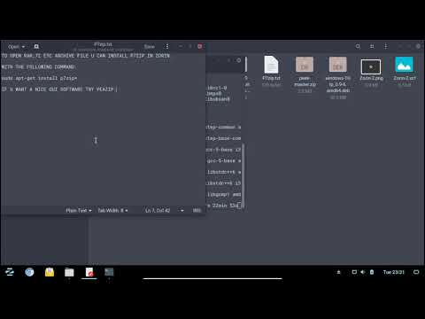 HOW TO OPEN RAR , 7Z FILES IN ZORIN BY INSTALLING 7ZIP AND UNRAR (GUI)