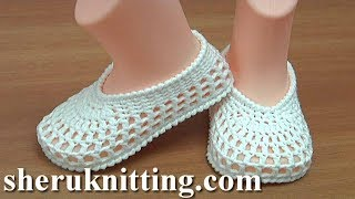 Easy to Crochet Summer Baby Shoes Tutorial 226