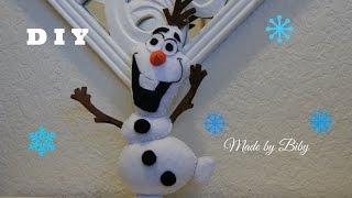 DIY -  Frozen Olaf en fieltro  manualidades