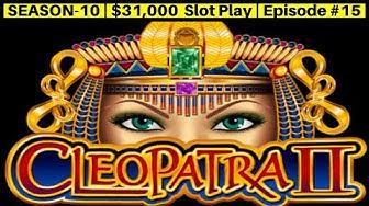 High Limit Cleopatra 2 Slot Machine Bonus & Live Play | Season 10 | Episode #15