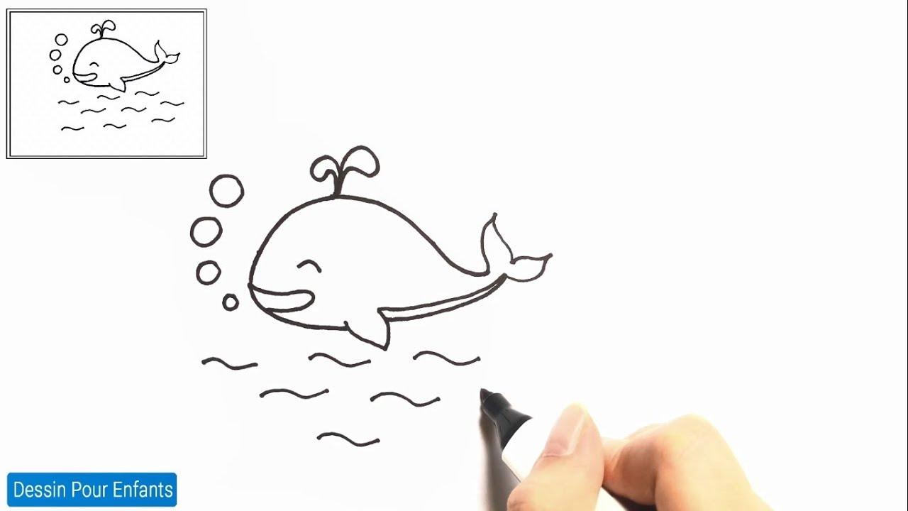 Comment Dessiner Un Baleine Facilement Etape Par Etape 1 Dessin Baleine