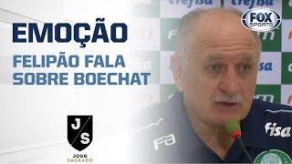 FELIPÃO SE EMOCIONA AO FALAR DE BOECHAT, EM ENTREVISTA COLETIVA