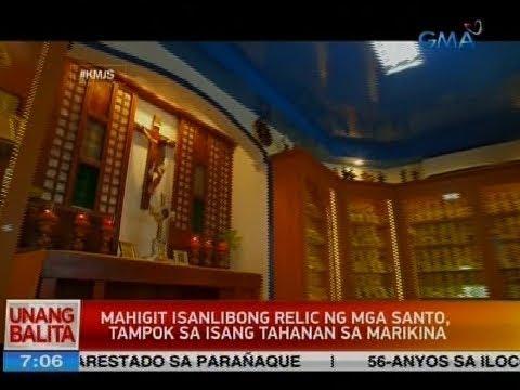 UB: Mahigit isanglibong relic ng mga santo, tampok sa isang tahanan sa Marikina
