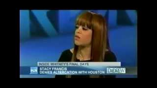 Whitney's Heated Fight with Stacy Francis Before Her Death