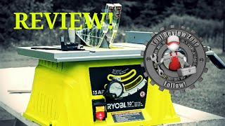 Ryobi 10 in. 15 AMP Table Saw REVIEW! (RTS10NS)