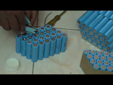 Home Made Lithium battery for ebike