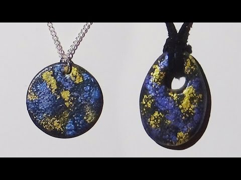 Polymer clay pendant spattered mica powder polymer clay tutorial polymer clay pendant spattered mica powder polymer clay tutorial aloadofball Images