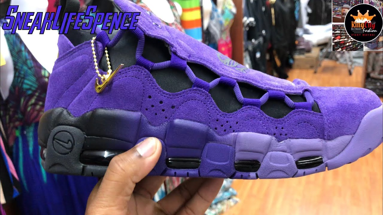 Nike air more money court purple review
