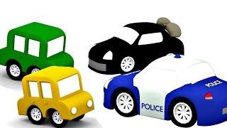 Lehrreicher Zeichentrickfilm - Die 4 kleinen Autos - Oje, die Bank wurde ausgeraubt