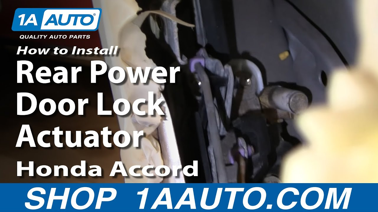How To Install Replace Rear Power Door Lock Actuator Honda