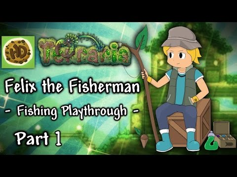 Terraria 1.3 Fisherman Challenge Part 1: Fishron, Crates & New Base! (1.3 Fishing Playthrough)