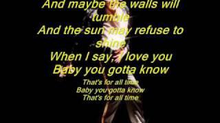 Michael Jackson- For all time lyrics