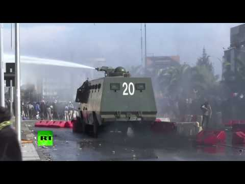 Chilean police disperse May Day demo with water cannon
