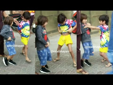 LOL! Shah Rukh Khan's Son AbRam Khan Teases Sohail Khan's Son Outside His School