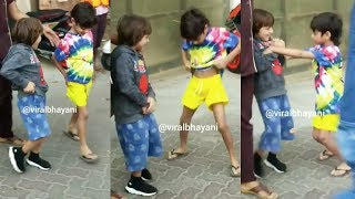 LOL! Shah Rukh Khan's Son AbRam Khan Teases Sohail Khan's Son Outside His School