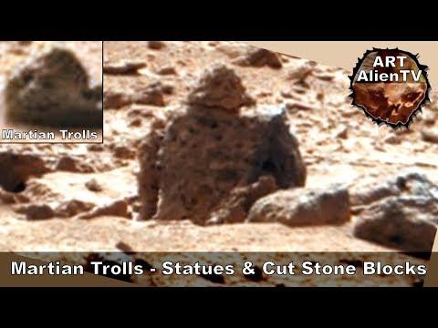 Martian Trolls - Statues & Cut Stone Blocks - Anomalies  - ArtAlienTV (R)