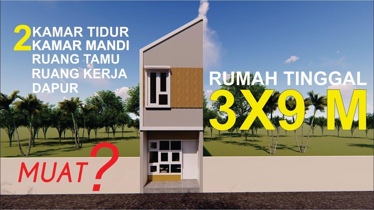 Rumah Minimalis 3x9 Meter Desain Rumah Untuk Kaum Urban Youtube