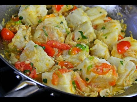 Yam With Stewed Saltfish #TastyTuesdays | CaribbeanPot.com
