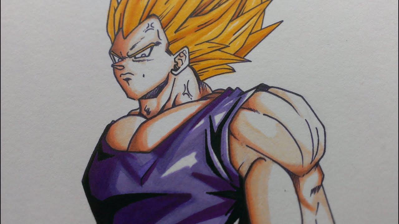 Prismacolor Sped Draw Vegeta DragonBall Z