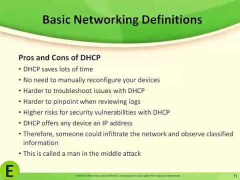 Basic Networking Definitions