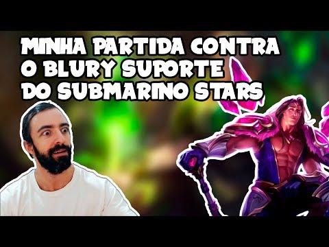 Minha partida contra o Blury suporte do Submarino Stars no League of Legends thumbnail