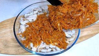Супер рецепт 1970 года! Минтай под маринадом. Рыба под маринадом просто и вкусно.