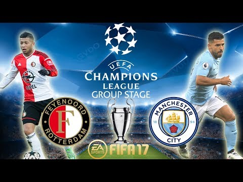 FIFA 17 | Feyenoord vs Manchester City | Champions League Group Stage 2017/18 | PS4 Full Gameplay