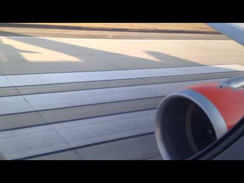 "EASYJET A-319 TAKE OFF  FROM "" MALPENSA TO NAPOLI""  ( AMAZING SOUND)   ""FULL HD"""