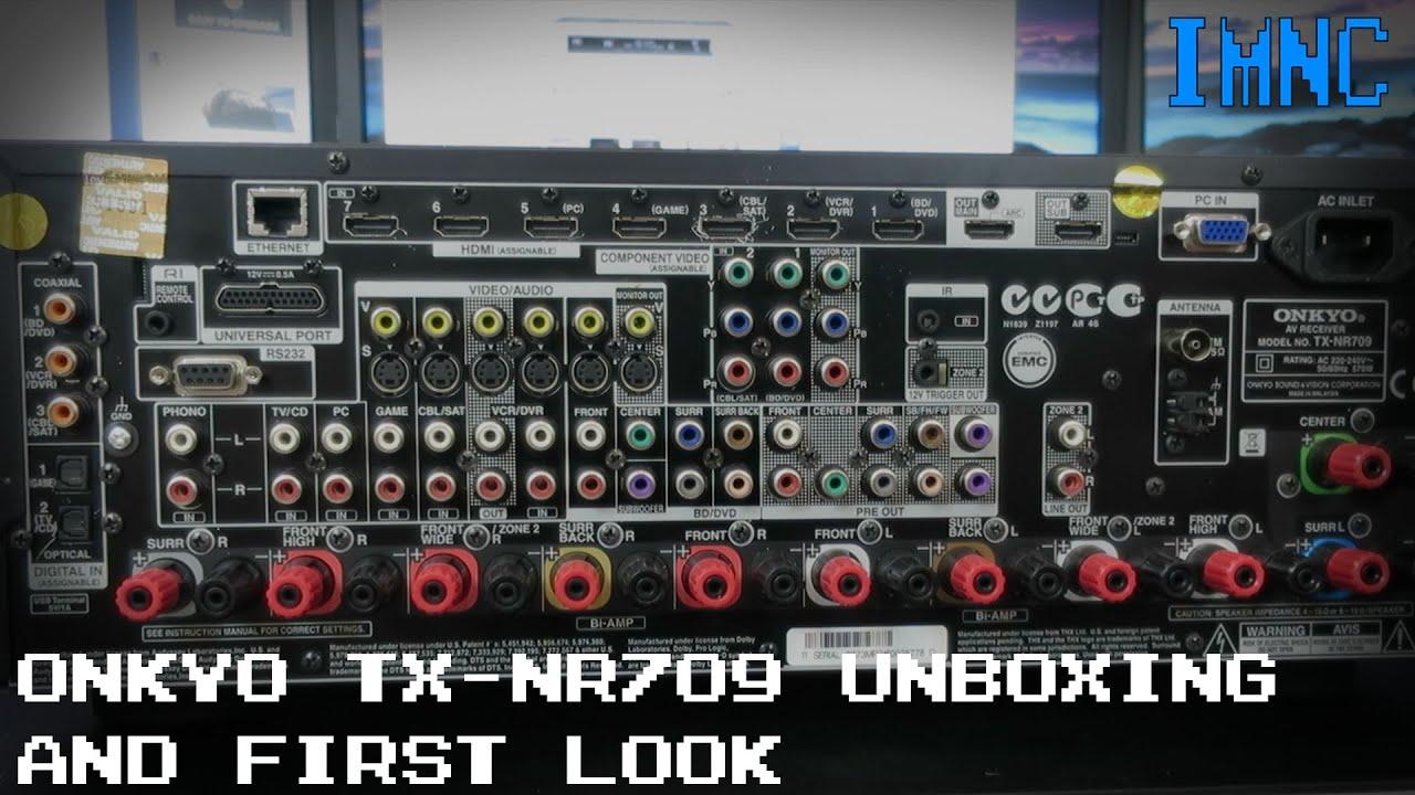 onkyo tx nr709 av receiver unboxing first look imnc youtube rh youtube com onkyo tx-nr709 owners manual Onkyo TX-NR709 USB