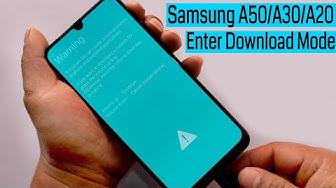 Samsung A50/A30/A20/A10 Enter Into Download Mode New Trick 2019