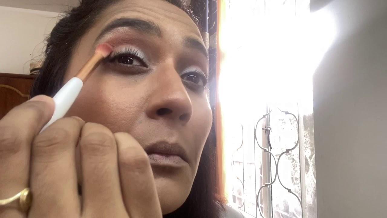 Soft peach makeup look - Charlotta Eve