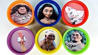 Disney MOANA Playdoh TOY Surprises, Learn Colors, Maui, Pau, Hei Hei Surprises / TUYC