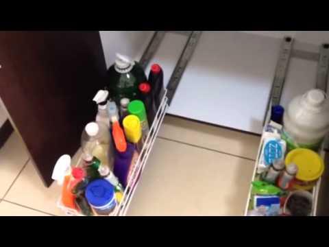 Organizador para fregadero 1 youtube for Organizador bajo fregadero ikea