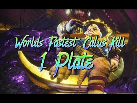 World's First 1 Plate Calus Kill! By Route